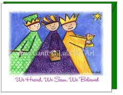 Christmas - We Three Kings Greeting Card