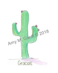Cactus Gracias Note Cards