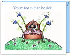 Get Well - Garden Get Well Greeting Card