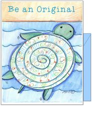 "Coastal - Blue Turtle ""Be an Original"" Turtle Boxed Note Cards"