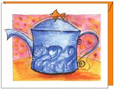 Cope - Aqua Teapot Greeting Card