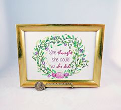 5 x 7 Framed Print - She thought she could so she did