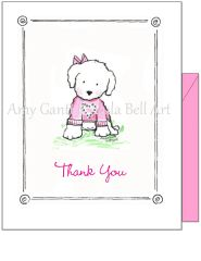 Thank you - Sweet Puppy Greeting Card