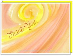 Thank You Sunset Swirl Boxed Note Cards