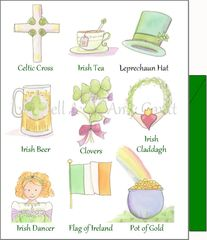 St. Patrick's Day - Symbols of the Irish Greeting Card