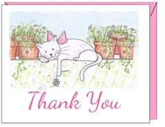 Thank You - Thank You Kitty Greeting Card