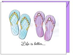 Friendship - Flip Flop Friends Greeting Card