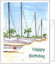 Birthday - Boats Birthday Card