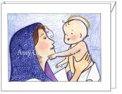 Christmas - Mary and Jesus Card