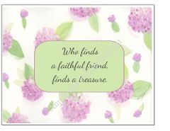 Friendship - Fran's Flower Greeting Card