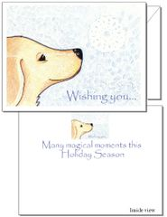 Holiday - Snowflake Puppy Dog Card