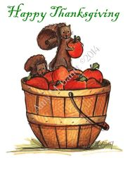 Thanksgiving - Apple Buddies Greeting Card