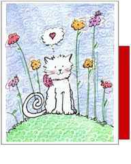 Valentine - Thinking of You Kitty Greeting Card