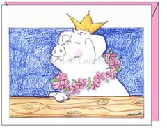 Encourgement - Queen Swine Greeting Card
