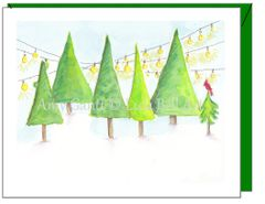 Christmas - Evergreen Row Greeting Card