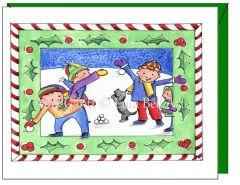 Christmas - Snowball Fun Greeting Card