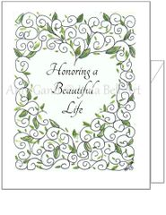 Sympathy - Scrolled Heart Greeting Card