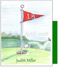 Hole in One Golf Boxed Note Cards