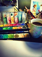 Watercolor & Pencil Art Classes for Adults