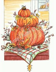 Thanksgiving - Pumpkins Greeting Card