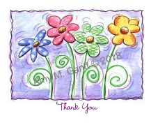 Thank You - Blooming in Color Boxed Note Cards