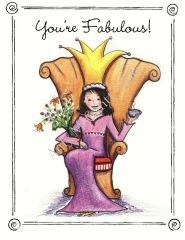 """You're Fabulous"" Queen Boxed Note Cards"