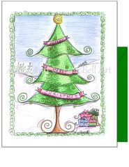 Christmas - X-mas Tree Greeting Card