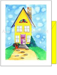 New Home - Cat and House Greeting Card