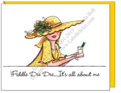 "Sunshine ""Fiddle Dee Dee..."" Boxed Note Cards"