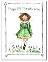 St. Patrick's - Irish Dancer Greeting Card