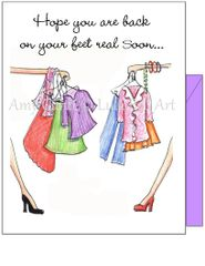 Get Well - Shopping Get Well Greeting Card