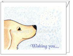 Holiday - Snowflake Puppy Dog Card