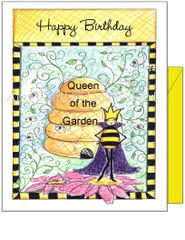 Birthday - Queen of the Garden Greeting Card