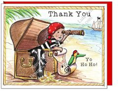 Thank You - Pirate Boxed Note Cards