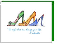 Encouragement - The Right Shoe Greeting Card