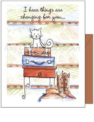 Cope - Kitty Suitcase Greeting Card