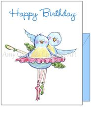 Birthday - Bird Ballet Greeting Card
