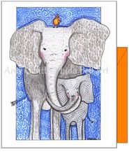 Get Well - Wild Elephants Greeting Card