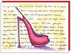 Pink Stiletto Shoe Boxed Note Cards