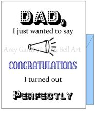 Father's Day - Perfect Day Greeting Card