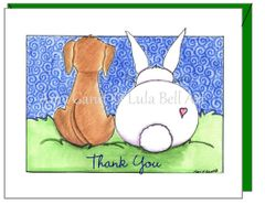 Thank you -Puppy Love Greeting Card
