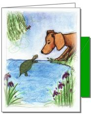 Dog and Turtle Boxed Note Cards