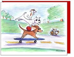 Birthday - Dogs on the Go Greeting Card