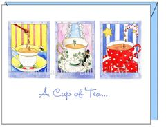Thinking of You - Tea Trio Greeting Card