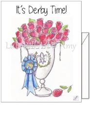 Derby- It's Derby Time - Winner's Cup Boxed Note cards