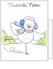 Thank You Bird Skater Boxed Note Cards