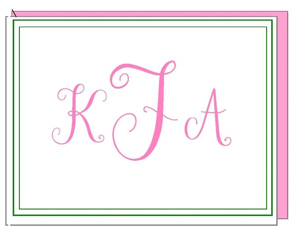 monogram boxed note cards - Note Cards