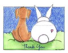 Thank You - Puppy Love Boxed Note Cards