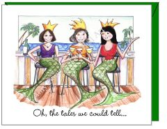 Birthday - Mermaids Greeting Card