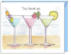 Friendship - Drinks on the Beach Greeting Card